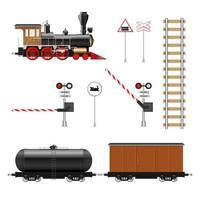 Railway elements isolated  vector