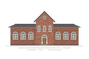 Brick high School building vector