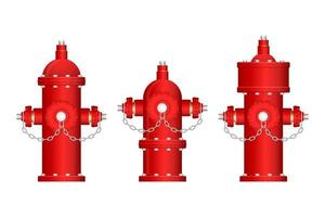 Red fire hydrants