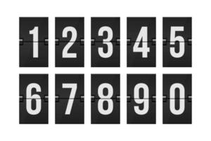 Mechanical scoreboard numbers  vector