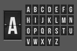 Mechanical scoreboard alphabet  vector