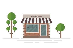 Coffee shop building and trees