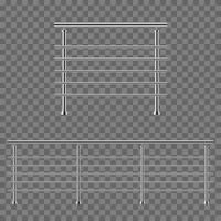 Two modern handrails vector