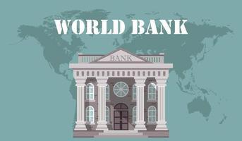 World bank concept  vector