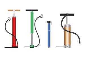 Colorful air pump set  vector
