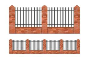Brick and steel fences