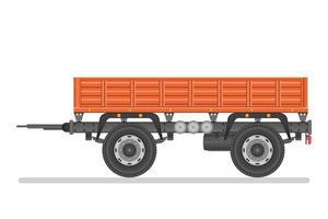 Car trailer isolated  vector