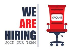 We are hiring sign concept vector
