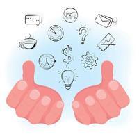 concepto de innovación de lluvia de ideas vector