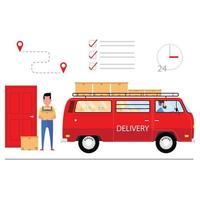 empresa de logística e conceito de serviço de entrega vetor