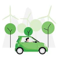 Green or alternative energy concept vector