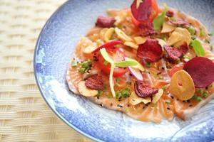 Salmon carpaccio photo