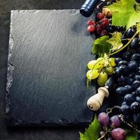Wine and grape photo