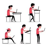 People in Different Poses Using Computers