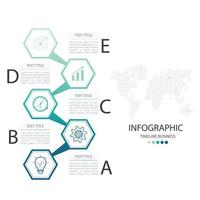 Timeline Business Infographic with Text Space vector