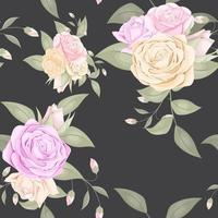 Floral seamless pattern with roses bouquet