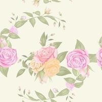 Seamless pattern with flower bouquet