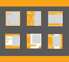 Social media template bundle vector