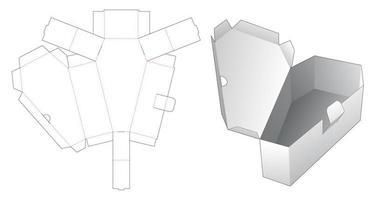 Caja de ataúd de 1 pieza vector