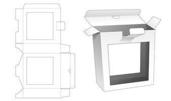 boîte en fer blanc avec 2 fenêtres vecteur