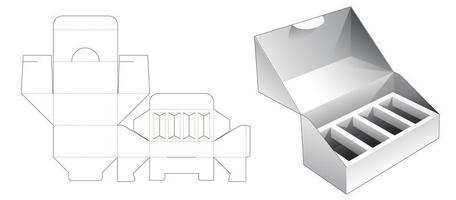 Embalaje de 1 pieza con soporte de inserción múltiple vector
