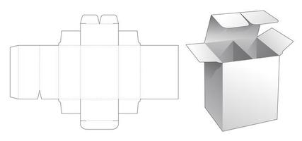 1 piece retail box with divider vector