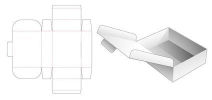 caja plegable plegable vector