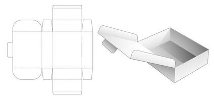 Folding flip box vector