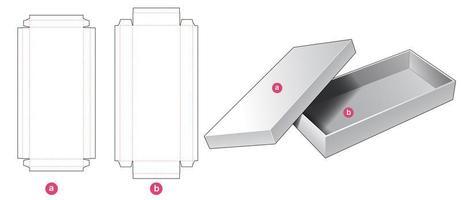 Caja larga rígida de 2 piezas vector