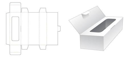 Tissue box with flip lid vector