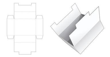 Cardboard storage box vector