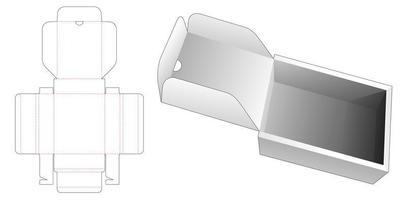 voltear caja rectangular vector