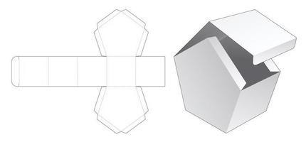 boîte en forme de maison à rabat vecteur