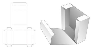 caja de comida con tapa vector
