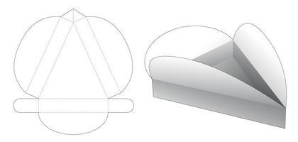Sliced pizza box vector