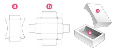 caja de jabón y tapa vector