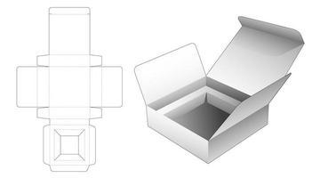 Caja plegable de 1 pieza con partidario vector