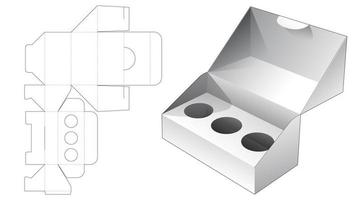 1 piece packaging with 3 circle insert supporter