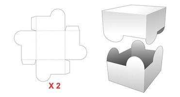 Caja rectangular 2 piezas vector