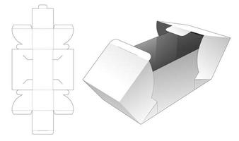 2 flap gift box vector