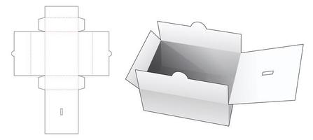 caja de documentos con tapa vector