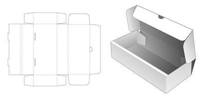 caja de panadería flip vector