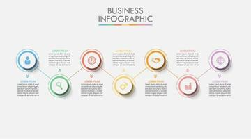 7 Step Colorful Circle Infographic