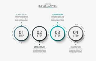 4 Step Circular Business Infographic Template