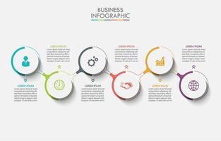 Modern Colorful Circle Connected Infographic