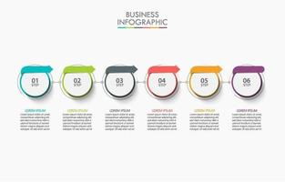 Colorful Circle with Arrow Labels Infographic