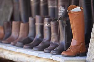 Leather boots of Valverde del Camino