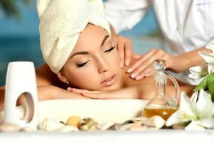 Girl at massage photo