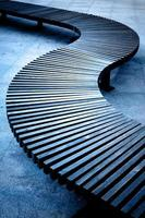 Modern urban bench
