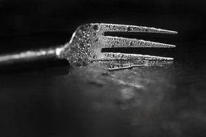 tenedor de cubiertos húmedo moderno artístico foto